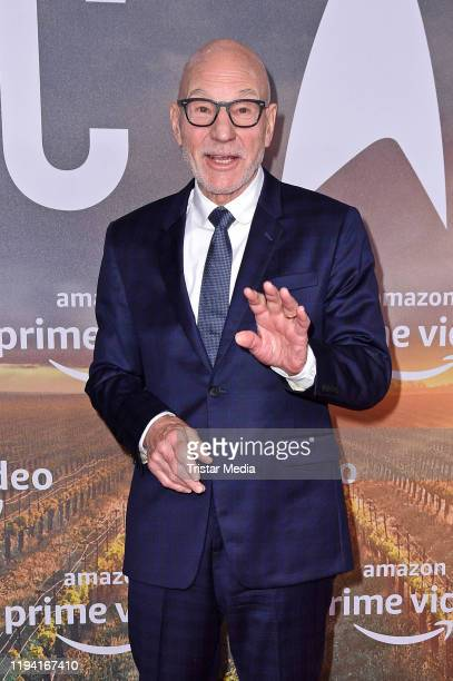 """British actor Sir Patrick Stewart attends the """"Star Trek: Picard"""" fan screening at Zoo Palast on January 17, 2020 in Berlin, Germany."""