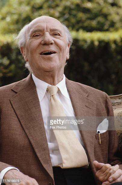 British actor Sir Ralph Richardson in a publicity still for the Thames Television series 'Six Centuries of Verse' Beckley Park Oxfordshire July 1983