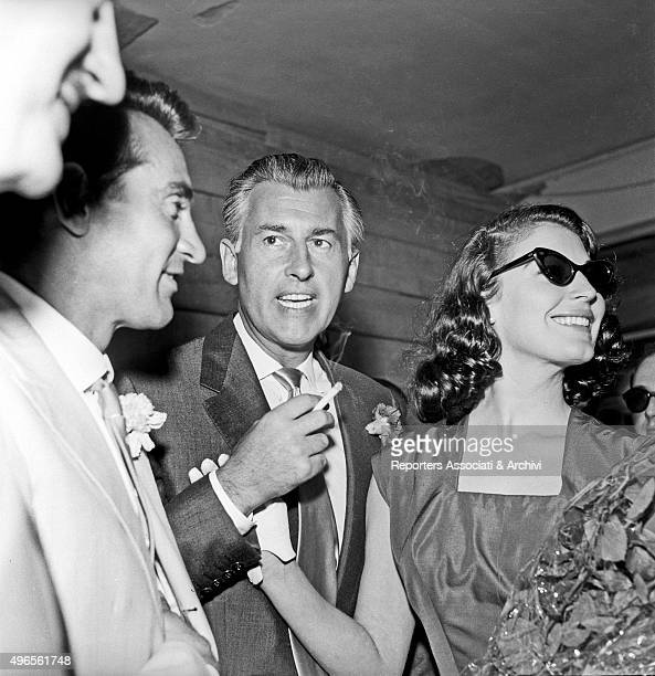 British actor Stewart Granger just landed at Ciampino Airport with American actress Ava Gardner They'll work together in the shooting of the film...