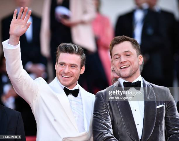 British actor Taron Egerton and Scottish actor Richard Madden arrive for the screening of the film 'Rocketman' during the 72nd annual Cannes Film...