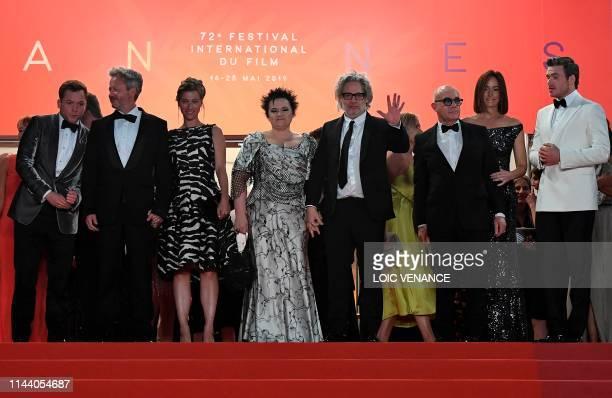 British actor Taron Egerton, British film producer Adam Bohling, British director Dexter Fletcher , his wife Dalia Ibelhauptaite, , British...