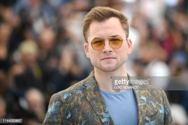 British actor Taron Egerton poses during a photocall for the film Rocketman at the 72nd edition of the Cannes Film Festival in Cannes southern France...