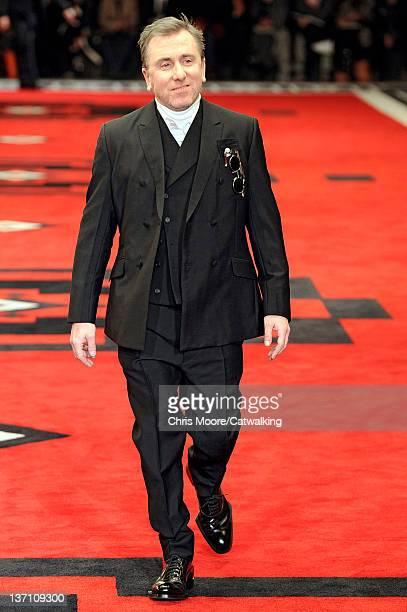 British actor Tim Roth walks the runway at the Prada Autumn Winter 2012 fashion show during Milan Menswear Fashion Week on January 15, 2012 in Milan,...