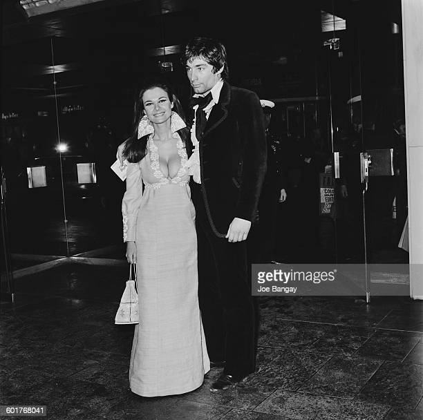 British actor Timothy Dalton and English actress Imogen Hassall at the premiere of the film 'Spring and Port Wine' London 19th February 1970