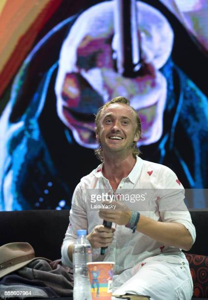 British actor Tom Felton attends Argentina ComicCon at Costa Salguero on December 8 2017 in Buenos Aires Argentina