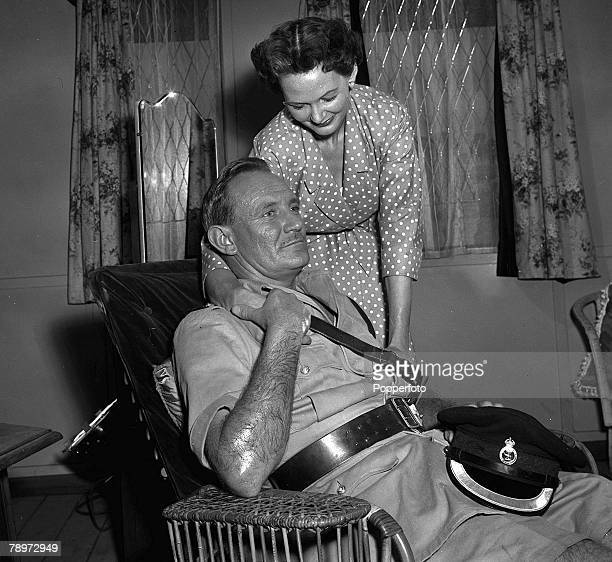 British actor Trevor Howard and Elizabeth Allan during the making of the film 'The Heart Of The Matter' 1953