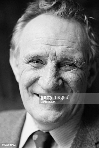 British actor Trevor Howard on the set of Meteor directed by Ronald Neame