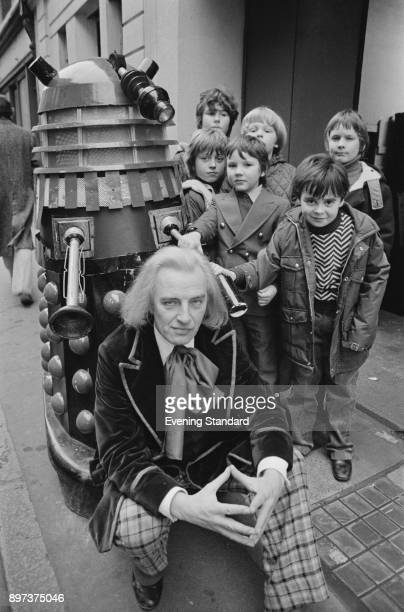 British actor Trevor Martin and the cast of Dr Who and the Daleks UK 20th January 1975