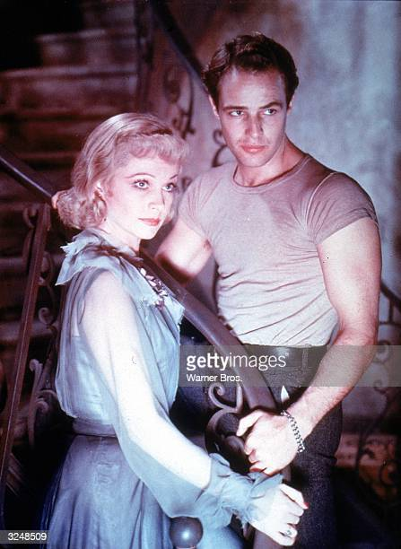 British actor Vivien Leigh and American actor Marlon Brando in a still from the film, 'A Streetcar Named Desire,' directed by Elia Kazan.