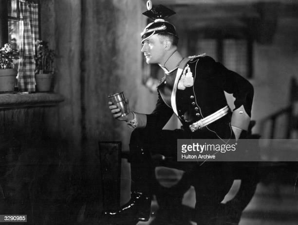 British actor Walter Byron plays German Uhlan soldier Karl von Hagen in 'The Awakening', directed by Victor Fleming.
