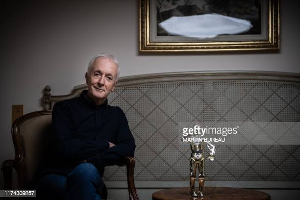 British actor who played C3PO in Star Wars Anthony Daniels poses during a photo session in Paris on October 7 2019