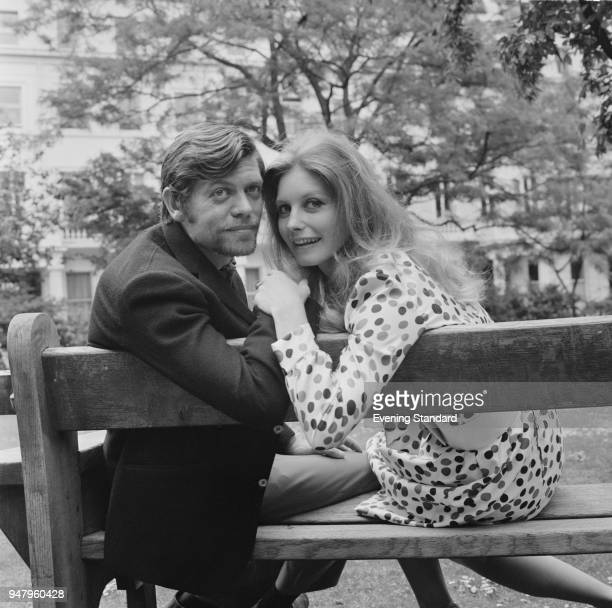 British actor William Marlowe with his wife Hungarian actress Catherine Schell UK 14th June 1968