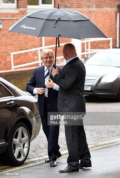 British actor William Roache who plays Ken Barlow in television drama Coronation Street arrives at Preston Crown Court on September 2 in Preston...
