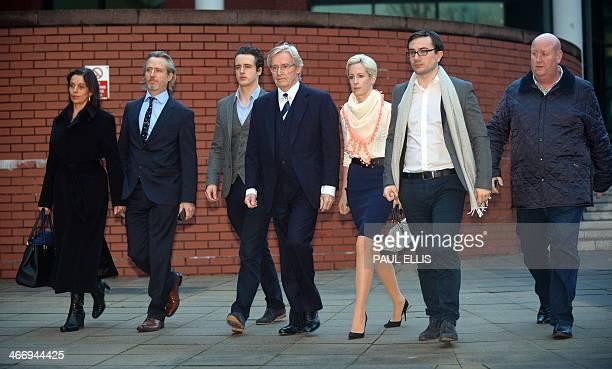 British actor William Roache , who plays Ken Barlow in television drama Coronation Street, leaves Preston Crown Court, in Preston, north-west...