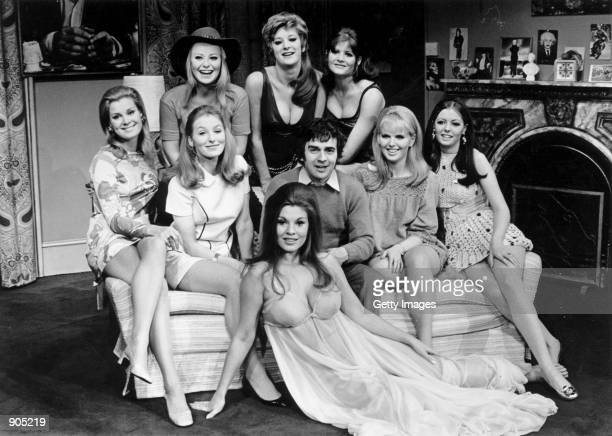 British actor/comedian Dudley Moore appears with costars from the play Play it Again Sam in this September 11 1969 file photo 66yearold Moore died...
