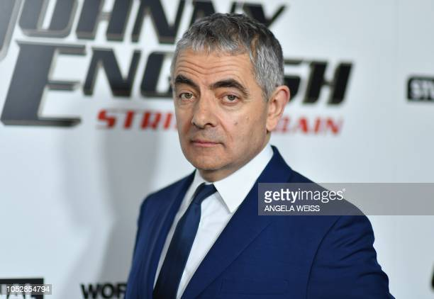 """British actor/comedian Rowan Atkinson arrives for the special screening of """"Johnny English Strikes Again"""" at AMC Lincoln Square in New York on..."""