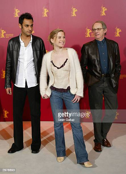 """British actors Atta Yaqub and Eva Birthistle and director Ken Loach attend the photocall to """"Ae Fond Kiss"""" at the 54th annual Berlinale International..."""