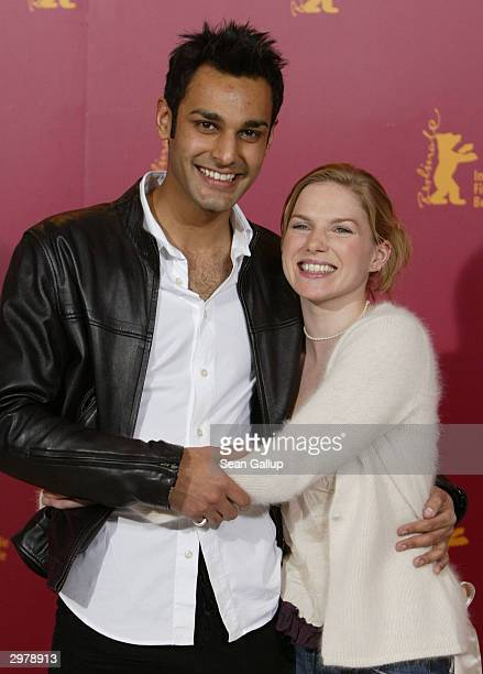 """British actors Atta Yaqub and Eva Birthistle attend the photocall to """"Ae Fond Kiss"""" at the 54th annual Berlinale International Film Festival February..."""