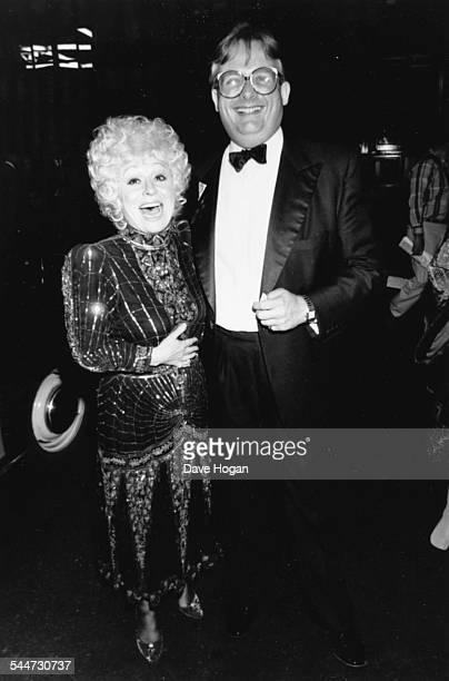 British actors Barbara Windsor and Christopher Biggins at the opening night of the musical 'Sugar Babies' London September 20th 1988