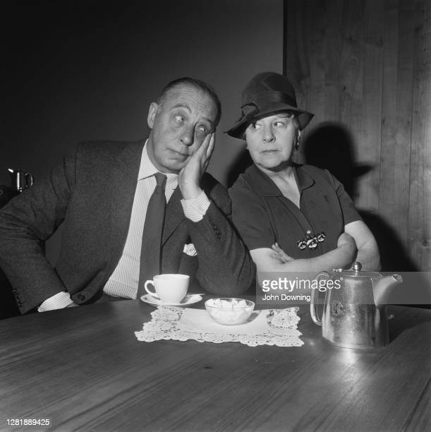 British actors Bill Fraser and Irene Handl star in the BBC television series 'Barney Is My Darling' UK 2nd December 1965