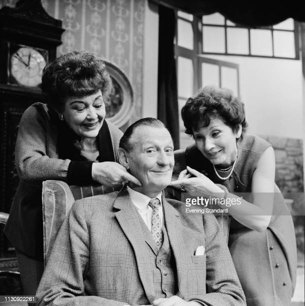 British actors Chili Bouchier , Richard Murdoch , and Joy Shelton , UK, 6th January 1969.