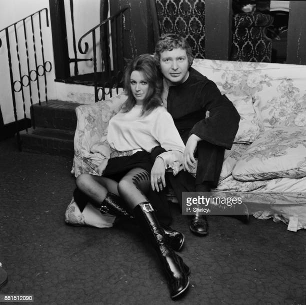 British actors Darren Nesbitt and Anne Aubrey UK 2nd January 1971