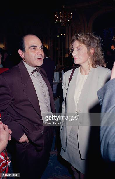 British actors David Suchet and Geraldine James at the Evening Standard Theatre Awards held at the Savoy Hotel London 12th November 1991