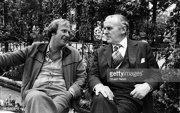 British actors Dennis Waterman as Terry and George Cole as Arthur in the television series 'Minder' Original Publication People Disc HM0469