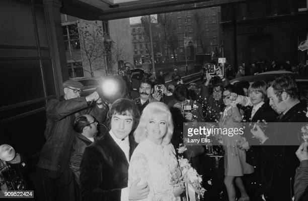 British actors Diana Dors and Alan Lake wedding day at Caxton Hall London UK 25th November 1968