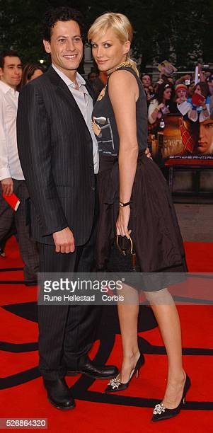 British actors Ioan Gruffudd and Alice Evans attend the premiere of 'SpiderMan 2' at the Odeon Leicester Square