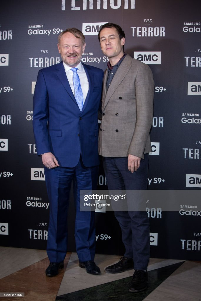 British actors Jared Harris and Tobias Menzies attend 'The Terror' premiere at Philips Theater on March 20, 2018 in Madrid, Spain.