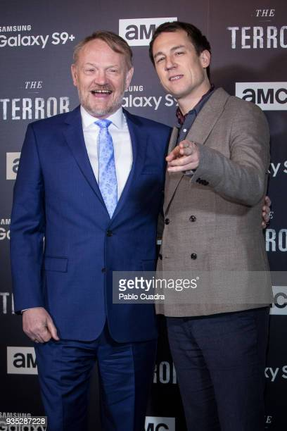 British actors Jared Harris and Tobias Menzies attend 'The Terror' premiere at Philips Theater on March 20 2018 in Madrid Spain