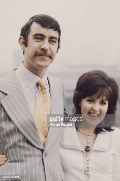 British actors John Alderton and his wife Pauline Collins circa 1972