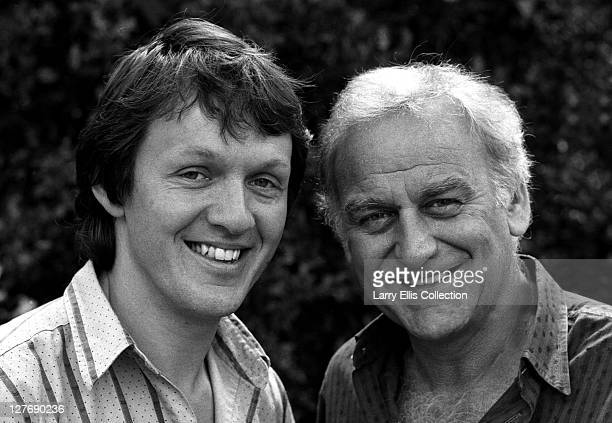 British actors John Thaw and Kevin Whately in a publicity still for the television detective series 'Inspector Morse' circa 1987 John Thaw plays the...