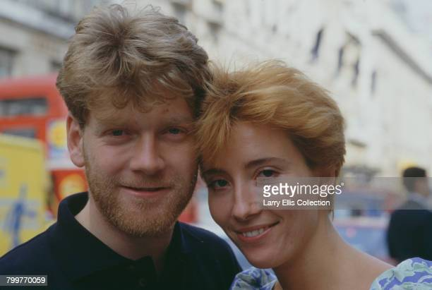 British actors Kenneth Branagh and Emma Thompson who star together in the BBC Television drama series Fortunes of War pictured together in London in...