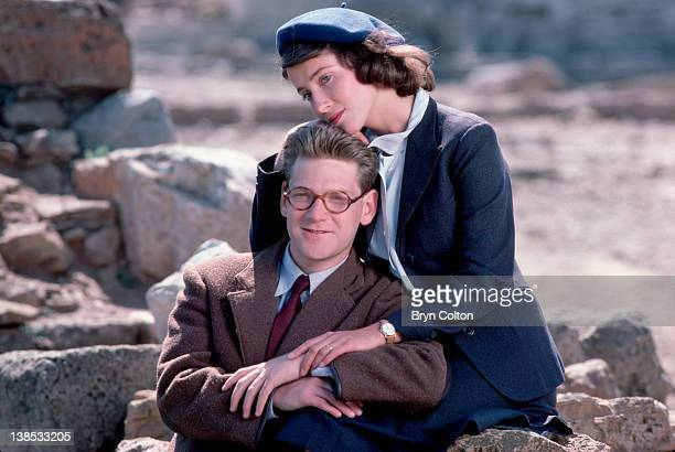 British actors Kenneth Branagh left and Emma Thompson photographed on location as they film the new BBC drama series 'Fortunes of War in Athens...