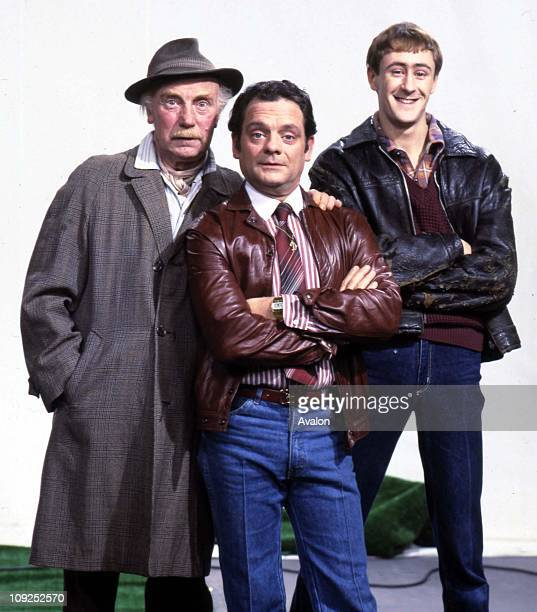 British Actors Lennard Pearce David Jason And Nicholas Lyndhurst Stars of the BBC TV comedy series 'Only Fools and Horses'