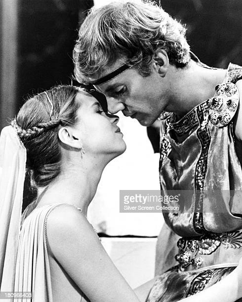 British actors Malcolm McDowell as Caligula and Teresa Ann Savoy as Drusilla in 'Caligula' directed by Tinto Brass 1979