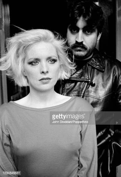 """British actors Margi Clarke and Alfred Molina starring in the film """"Letter to Brezhnev"""" as Teresa and Sergei, photographed on location in Liverpool..."""