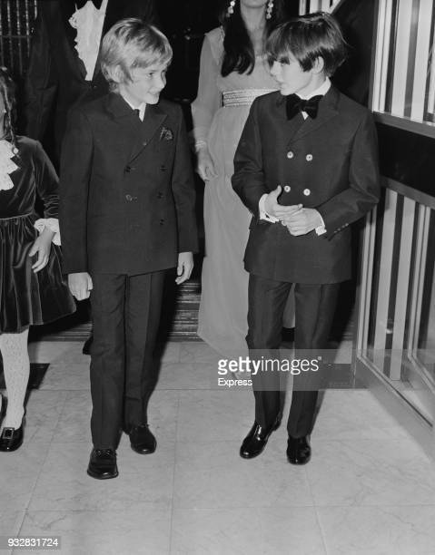 British actors Mark Lester and jack Wild attend the premiere of musical drama film 'Oliver' UK 26th September 1968