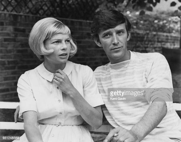 British actors Mary Peach and Tom Bell in the garden of her home in Kensington London 28th May 1964 They will be starring together in the film...