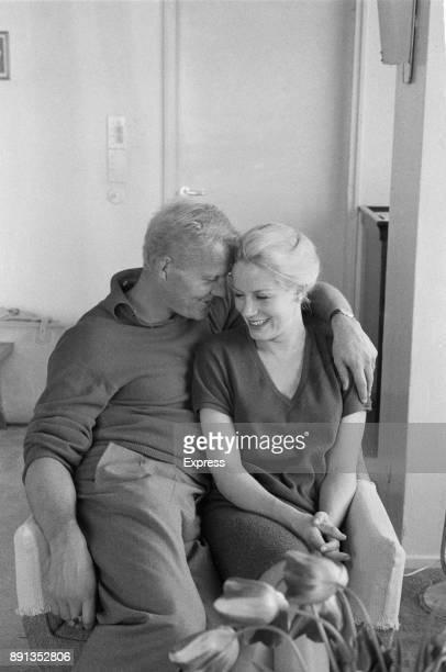 British actors Mary Ure and Robert Shaw , UK, 11th May 1963.