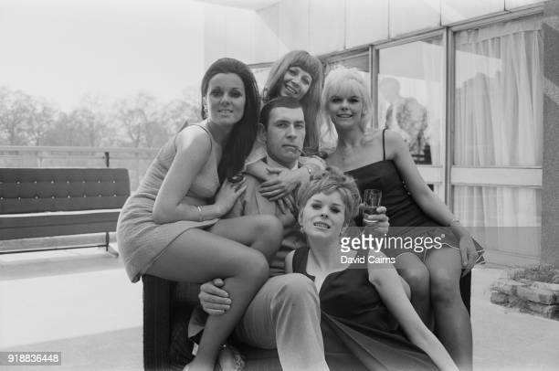 British actors Neil Connery Valerie Flower Valerie Wood Francis Sinclair and Sandra Marshall UK 22nd April 1968