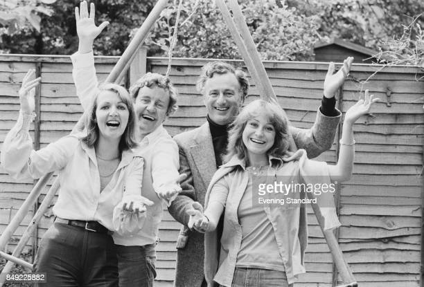 British actors Penelope Keith Richard Briers Paul Eddington and Felicity Kendal costarts in the BBC sitcom 'The Good Life' 2nd September 1977