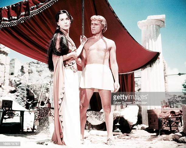 British actors Richard Burton as Alexander the Great and Claire Bloom as Barsine in 'Alexander the Great' written directed and produced by Robert...