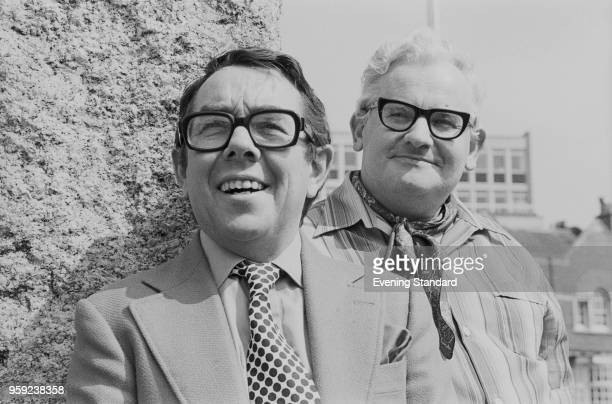 British actors Ronnie Barker and Ronnie Corbett , co-stars in the BBC television comedy sketch show 'The Two Ronnies', UK, 12th May 1978.