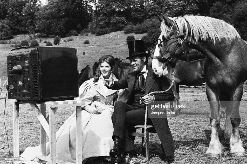 British actors Samantha Eggar and Rex Harrison on the set of Doctor Dolittle directed by American Richard Fleischer.