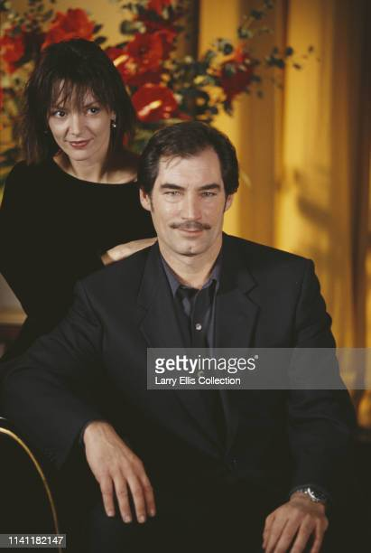British actors Timothy Dalton and Joanne Whalley pictured together at a press call to promote the upcoming television series 'Scarlett' in London in...