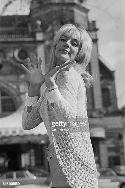 British actress Aimi MacDonald during rehearsals for the play 'Born Yesterday' by Garson Kanin UK 1971