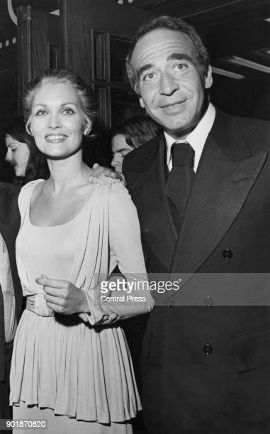 British actress Alexandra Bastedo attends the premiere of the film 'That's Entertainment' at the Dominion in Tottenham Court Road London with her...